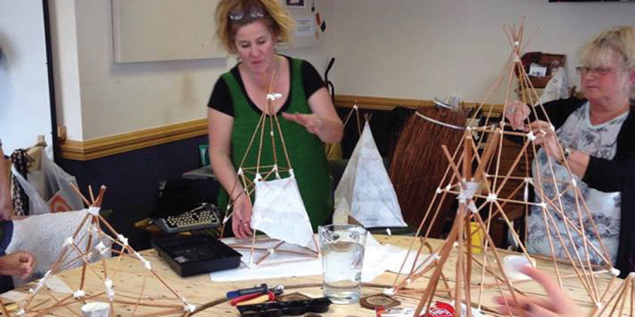 Lantern making workshop for Catch the Light